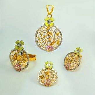 Satu Set Pehiasan Dubai 22k